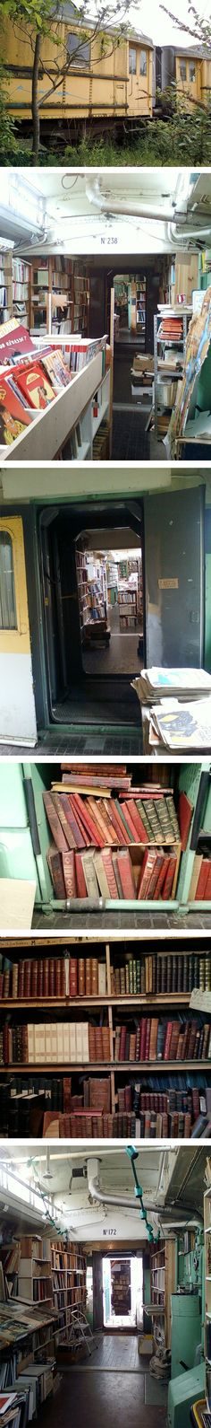 A bookstore on a TRAIN!