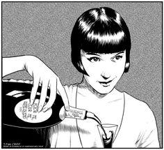 Here is another ink / trace, this time from a screen capture from a 1929 silent movie Pandora's Box. Louise Brooks, Belle Epoque, Roaring Twenties, The Twenties, Sound Film, Film Icon, Black Helmet, Silent Film Stars, Ancient Beauty