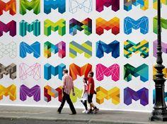 Visual identity of Melbourne. Great design.