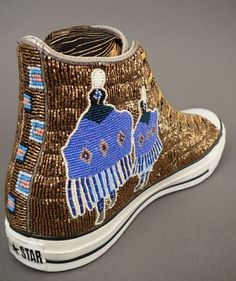 Native American Beadwork on Converse