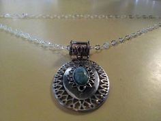 Turqoise Pendant Sterling Silver Necklace by coriesutton on Etsy, $30.00