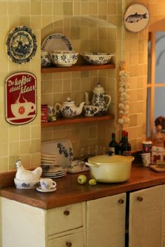 The Kitchen-gorgeous miniature.  Yes, this is a miniature!  But I would love something like this as my real kitchen.  :)