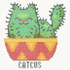 Catcus   Urban Threads: Unique and Awesome Embroidery Designs