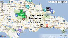 Karte Dominikanische Republik