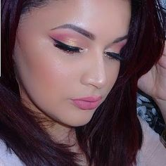 Intensify your night out look with monochromatic eyeshadow shades, bold winged out liner and subtle pink lipstick. Grab the must-haves featured here to recreate this makeup.