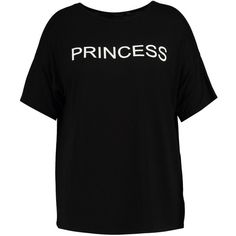 """Boohoo Plus Gracie """"""""Princess"""""""" Slogan Tee 