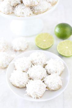 Lime Coconut Snowballs - these are really great and so easy. I'm adding these to the Christmas cookie rotation!