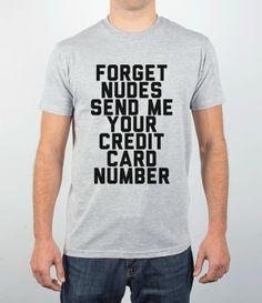 #money, #creditcard, #nudes, #funny