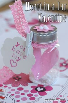 Heart in a Jar Valentine -- give you sweetheart you heart in a jar with this fun craft video tutorial.