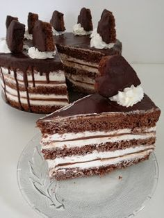 Torte Recepti, Kolaci I Torte, Baking Recipes, Cookie Recipes, Torte Cake, Delicious Chocolate, Sweet Cakes, Desert Recipes, Cake Cookies
