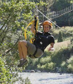 Zip across the Gallatin River!