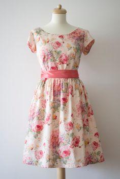 Vintage inspired bridesmaid dress English by Mokkafiveoclock, $95.00