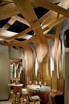 Weave weaving wood project architecture espace aménagement