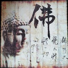 """Bild """" Buddha """" Deko / Feng Shui"""