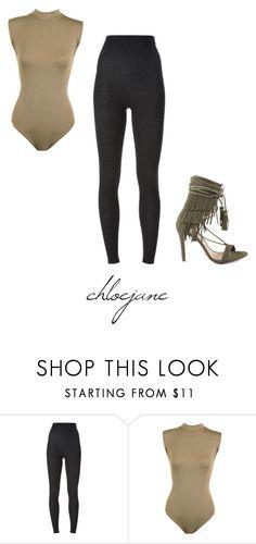"""K H A K I & B L A C K"" by chloeeej ❤ liked on Polyvore featuring Dolce&Gabbana, WearAll and Schutz"