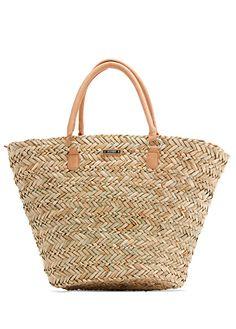 Le bon look pin-up Mango Handbags, Mango Bags, Preppy Style, My Style, Bon Look, Wicker Purse, Beige Purses, Paris Chic, Brown Bags