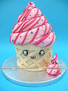 Ice-cream Cake by ginas-cakes on DeviantArt