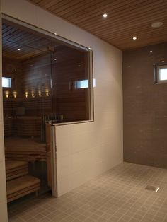 Sauna Lights, Sauna Design, Interior And Exterior, Interior Design, Spa Rooms, Bathroom Cleaning, Dream Bathrooms, My Dream Home, New Homes