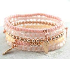 Polaris beads Pearl Shine & Tassels - Jewelry made with Polaris Pearl shine beads & tassels - Lava Bracelet, Bracelet Making, Bracelet Set, Jewelry Making, Pink Jewelry, Cute Jewelry, Jewelery, Beaded Jewelry Designs, Handmade Jewelry