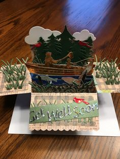 Kindergarten, Fishing Box, Pop Up Box Cards, Cricut Cards, Explosion Box, Paper Crafts, Gift Wrapping, Boxes, Handmade Cards