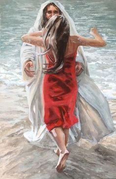 Beautiful Christian Paintings, Christian Art, Braut Christi, Pictures Of Jesus Christ, Christian Pictures, Jesus Painting, Jesus Art, Bride Of Christ, Prophetic Art