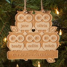 Our special personalized ornament will be a welcome addition to your tree.