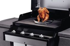 The Poultry Roaster is the perfect cooking accessory for all those people who enjoy that xtra juicy, flavoursome roast chicken.    Roast chicken on the BBQ never gets any better than this. The non-stick tray has a reservoir for beer, wine, fruit juice, water or spices.    When placed on a barbeque, the steam rising from this mixture helps produce fantastic flavour, cooking the chicken to perfection. Bbq Accessories, Roast Chicken, Fruit Juice, Griddle Pan, Poultry, Chicken Recipes, Oven, Spices, Tray