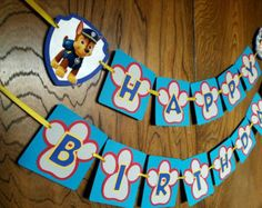 Personalized Paw Patrol Birthday Party Banner By LittleMichaels