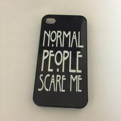 """AHS / American Horror Story inspired Evan peters """"normal people scare me"""" phone case"""