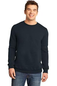 District® - Young Mens The Concert Fleece™ Crew.  Built for the performance called life. 7.8-ounce, 50/50 cotton/poly fleece.  Tear-away tag.  Young Mens Sizes: XS-4XL