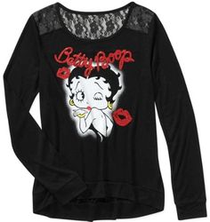 Betty Boop Kisses / Graphic LongSleeve Tee / Juniors Sizes- S,M,L #BettyBoop #GraphicTee #Casual