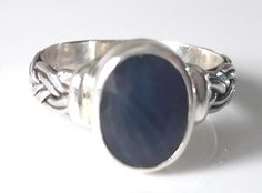 Natural Sapphire Faceted Ring