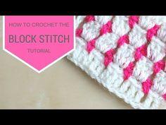 CROCHET: How to crochet the block stitch | Bella Coco - YouTube