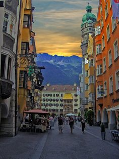 Innsbruck, Austria. So beautiful , especially in winter covered in snow.