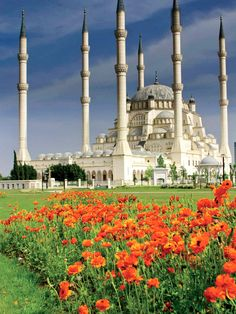 "Sabancı Merkez Camii mosque in Adana, Turkey. See this on the OAT ""Turkey's Sacred Lands & Ancient Civilizations"" adventure. For more information please visit http://www.oattravel.com/Trips/2013/Turkeys-Sacred-Lands-and-Ancient-Civilizations-2013.aspx #mosque #adana #turkey"