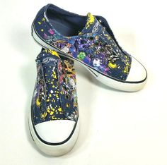 promo code db56f c51a4 Ed Hardy Canvas Skate Shoes Womens Size 5 Splatter Paint Frayed Streetwear  Style
