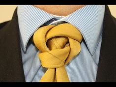 How To Tie a Tie Finfrock Knot - YouTube