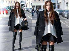 Zara Sweater, Zara Coat, Notion1.3 Skirt