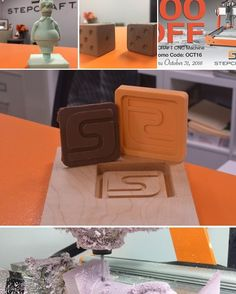 Foam wood plastics metals paper CANDY rubber stamps! What will you create with your #STEPCRAFT #CNC #3Dprinter? SALE NOW, Order TODAY! www.stepcraft.us