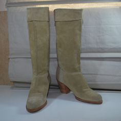 Lighthouse Footwear vintage cuffed suede boots size 5 5.5 $72