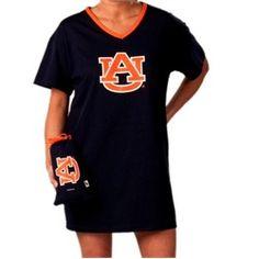 Auburn University Tigers War Eagle Women's Night Shirt Tee With Bag