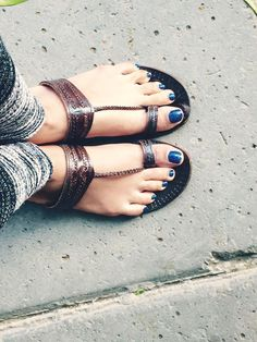 Handmade shoes from India, also known as Kolhapuri Chappals :)