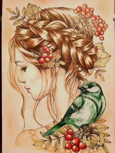 Colored Pencil Artwork, Color Pencil Art, Pencil Art Drawings, Art Drawings Sketches, Beautiful Drawings, Fairy Art, Colorful Drawings, Pretty Art, Female Art