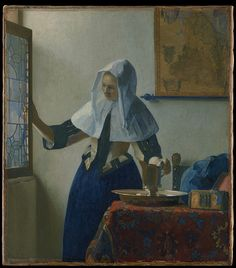 Young Woman with a Water Pitcher, Johannes Vermeer  (Dutch, Delft 1632–1675 Delft)