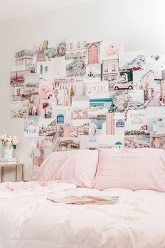 Pastel and colorful wall art aesthetic prints for the teen bedroom Pastel Walls, Pink Walls, Pastel Art, Pastel Home Decor, Pastel House, Travel Wall Art, Photo Wall Collage, Dorm Room, Wall Art Prints