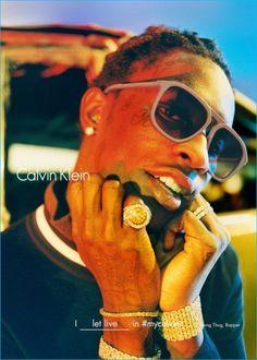 Young Thug for Calvin Klein - Fall 2016 Campaign - Shot by Tyrone Lebon Calvin Klein, Tyrone Lebon, Mode Hip Hop, My Calvins, 2 Chainz, Young Thug, Frank Ocean, Lil Pump, Kate Moss