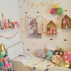 Colourful, playful and charming girls room
