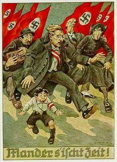 """""""Mander s'ischt Zeit!"""" Nationalsozialistische Propagandapostkarte zum """"Anschluss"""" Österreichs. Graz, 1938. """"Männer, es ist an der Zeit"""" war ein bekannter Kampfruf des Tiroler Freiheithelden Andreas Hofer (...)  Die gleichen Worte wählte der österreichische Bundeskanzler Kurt von Schuschnigg bei einer Rede am 9. März 1938 (...). Nach dem """"Anschluss"""" Österreichs nahmen die Nationalsozialisten diese Parole auf (...)"""
