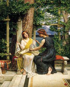 Edward John Poynter (English, 1836-1919). Helena and Hermia, 1901. Art Gallery of South Australia