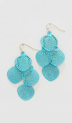 Avi Chandelier Earrings in Turquoise-- I'm totally going to spray paint my earrings for a similar look!